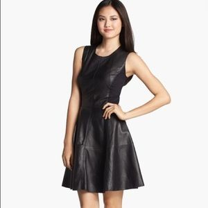 Halogen Leather Ponte Sheath Dress
